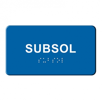 Indicatoare tactile BRAILLE  - Subsol