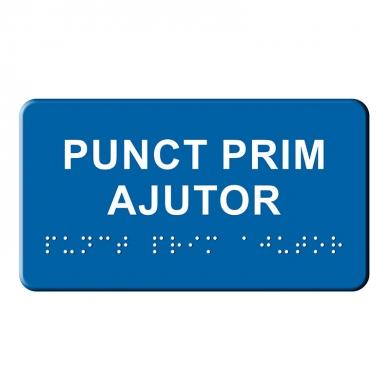 Indicator tactil  - PRIM AJUTOR mic