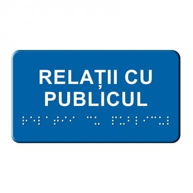 Indicator tactil - Relatii cu publicul