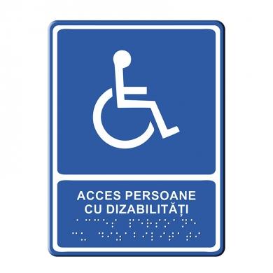 Indicator Tactil Acces dizabilitati