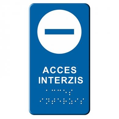 Indicator tactil Braille - ACCES INTERZIS