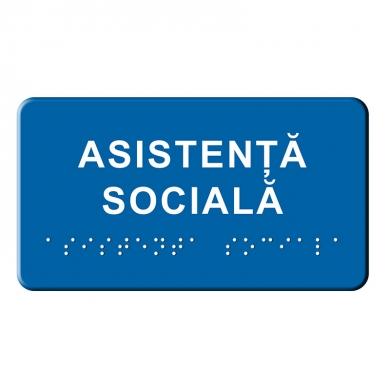 Indicator tactil Braille - ASISTENTA SOCIALA