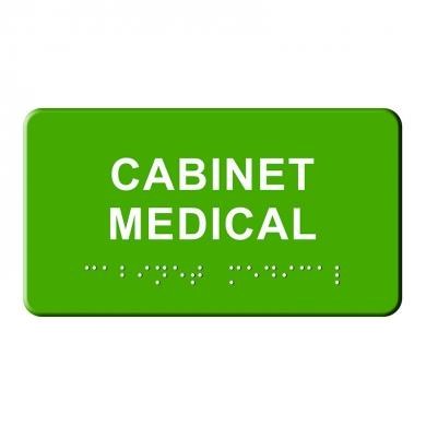 indicator tactil Braille - CABINET MEDICAL