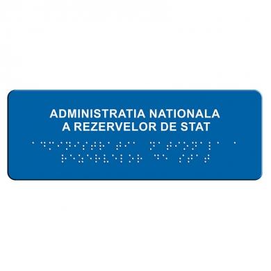 indicator tactil Braille - INSTITUTIE PUBLICA