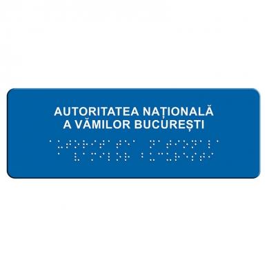 indicator tactil Braille - INSTITUTII PUBLICE