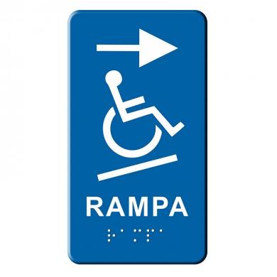 Indicator tactil Braille - RAMPA