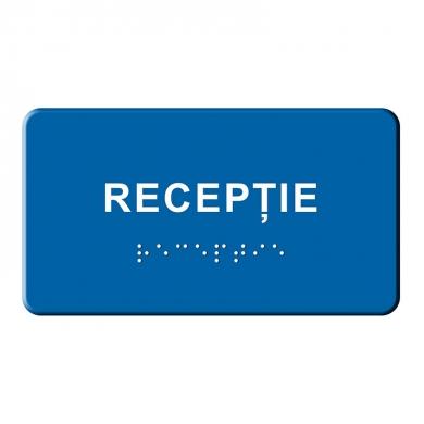 Indicator tactil Braille - Receptie
