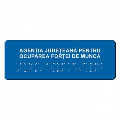 Indicator tactil  Denumire institutie publica