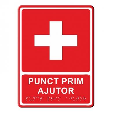 Indicator tactil  - PRIM AJUTOR mare
