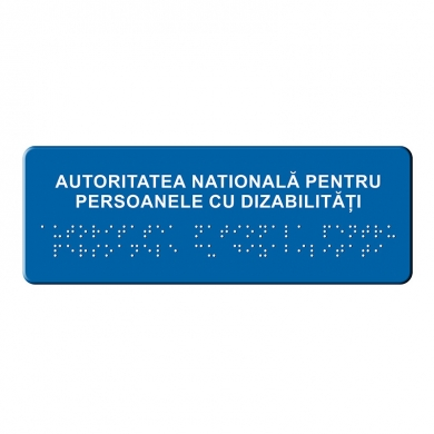 Placa Denumire Institutii publice BRAILLE